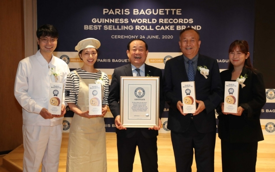 Guinness World Records accredits Paris Baguette for roll cake