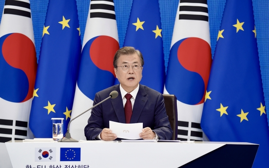 Korea, EU agree to strengthen ties, COVID-19 response