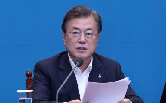 Moon hopes Trump to meet NK leader before November election: Cheong Wa Dae