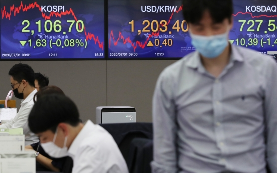 Seoul stocks edge down over Hong Kong security law