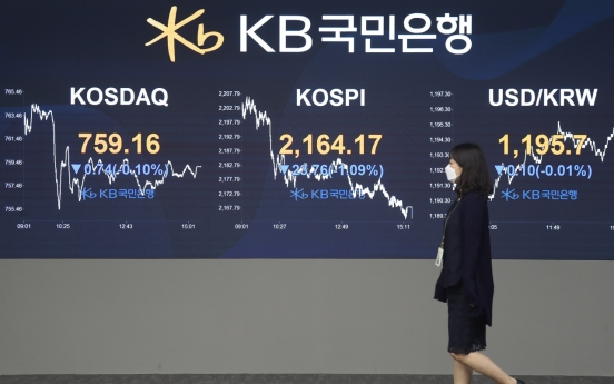 Seoul stocks snap 3-day winning streak on growing virus concerns