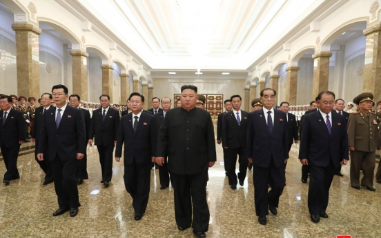 NK leader visits mausoleum to mark late grandfather's death anniversary