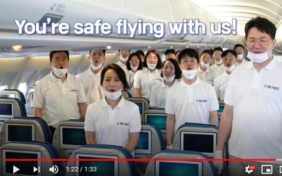 Korean Air releases video promoting hygiene procedures in planes