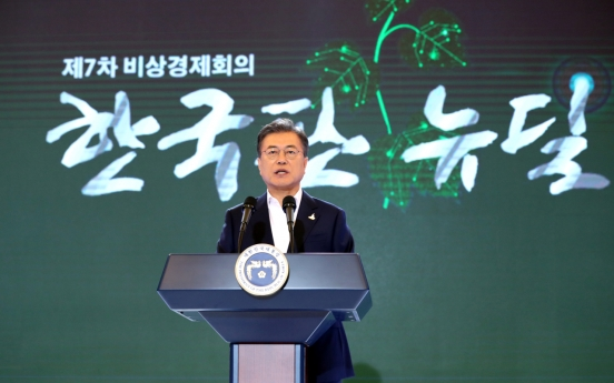 Moon: S. Korea to pour W160tr into New Deal project to create 1.9 million jobs by 2025