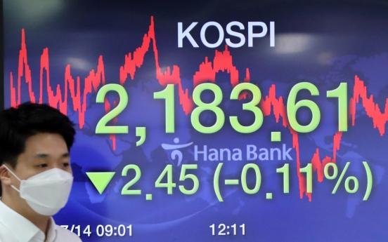 Seoul stocks down on virus fears despite stimulus plan