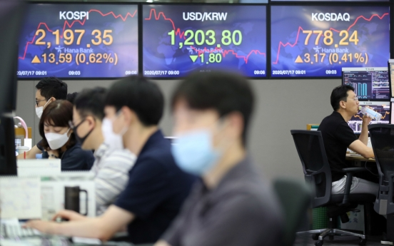 Seoul stocks open higher on improved US retail sales