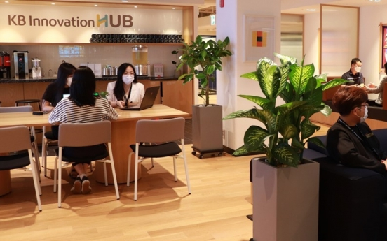 KB Financial relocates startup accelerator to WeWork Korea