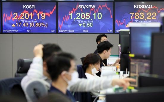 Seoul stocks close higher on stimulus hopes
