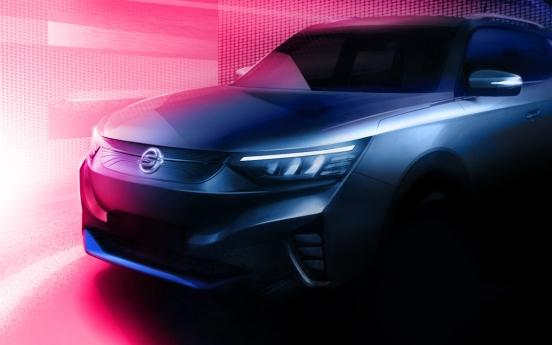 SsangYong reveals teaser of first EV E100