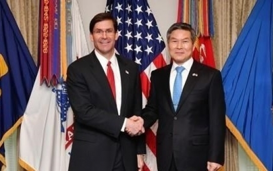 S. Korea, US defense chiefs talk, but no decision yet on joint drills
