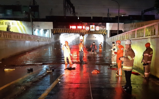 Two killed in heavy rain in Busan