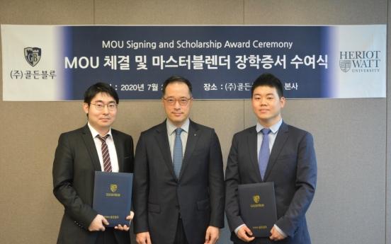 Golden Blue renews scholarship partnership with Heriot-Watt University
