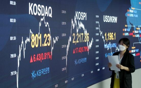 Seoul stocks snap 3-day losing streak on stimulus hopes