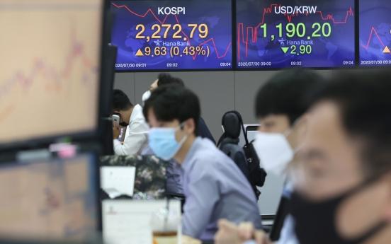 Seoul stocks open higher on tech gains, weak dollar