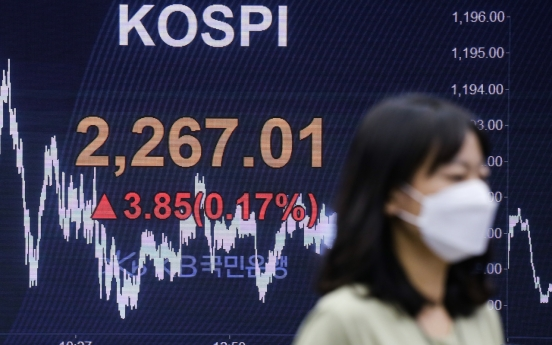 Kospi briefly touches record high for 2020 on foreign buying spree