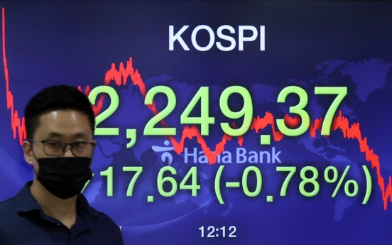 Seoul stocks snap four-day winning streak amid COVID-19 uncertainties