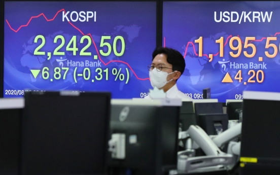 Seoul stocks open lower on chip, auto losses