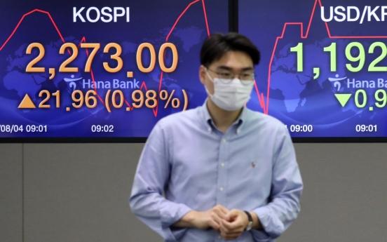 Seoul stocks open sharply higher on overnight Wall Street rally