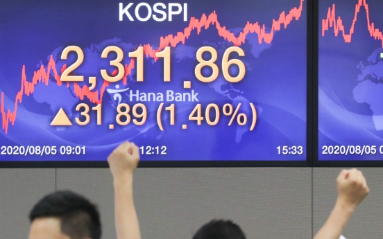 Seoul stocks hit almost 2-year high on US stimulus hopes
