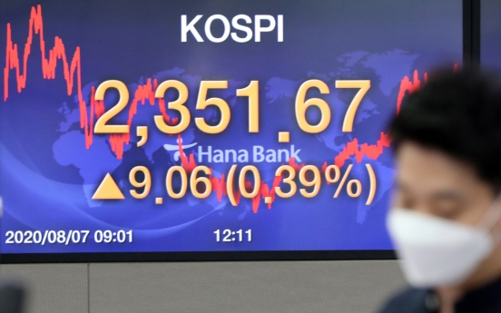 Seoul stocks bask in week-long gain to hit nearly 2-year high on stimulus hope