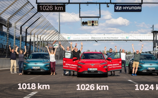 Hyundai Kona Electric sets new travel range of over 1,000 km