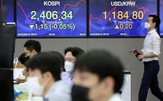 Seoul stocks open lower amid fears of COVID-19 resurgence