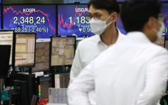 Seoul stocks dip to 2-month low amid COVID-19 resurgence fears