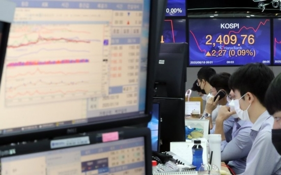 Seoul stocks drop sharply amid COVID-19 resurgence