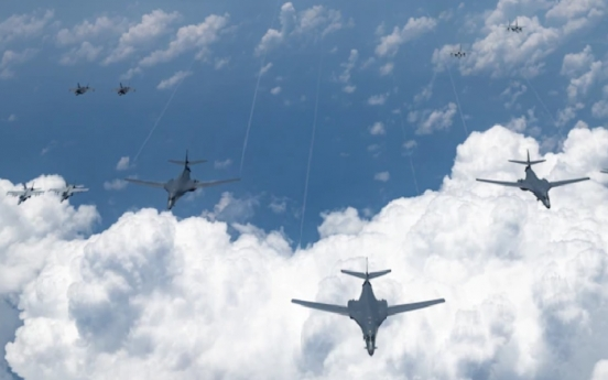 US bombers conduct drill over Korean Peninsula in show of force