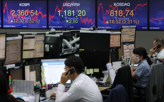 Seoul stocks swing to gains despite COVID-19 resurgence