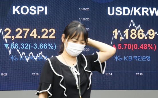 Seoul stocks dip over 3% on rising COVID-19 fears, recovery concerns