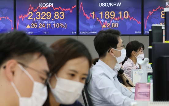 Seoul stocks extend winning streak to 2nd session on bargain hunting