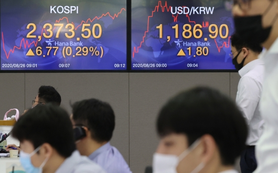 Seoul stocks open tad higher on Wall Street gains