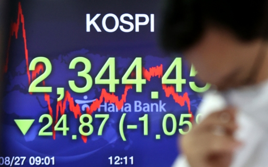 Seoul stocks snap 4-day winning streak on spiking virus cases