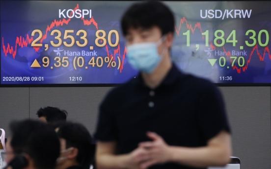 Seoul stocks finish higher on US Fed's dovish signal