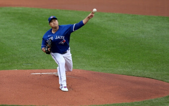 ERA for Blue Jays' Ryu Hyun-jin lowered following scoring change