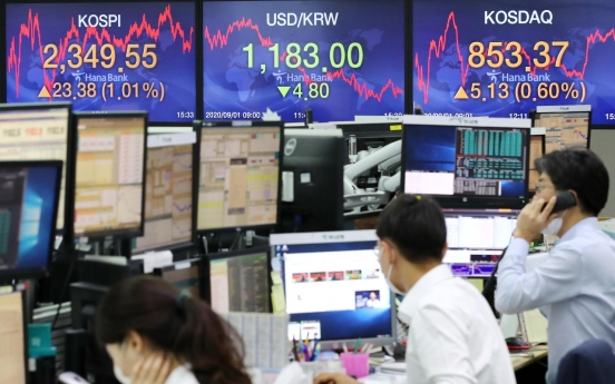 Seoul stocks rebound on bargain hunting, massive budget proposal