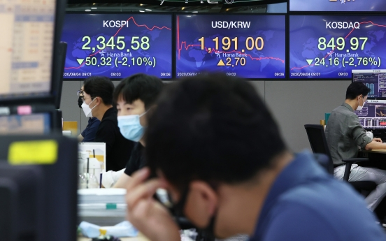 Seoul stocks open sharply lower on Wall Street plunge