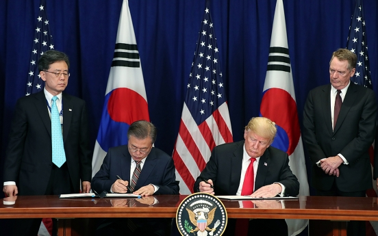 Trump says KORUS FTA led to US losses before but now is great
