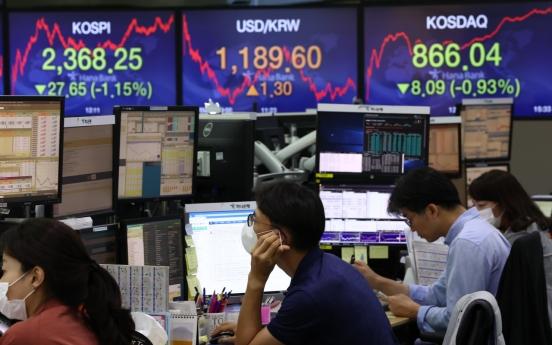 Seoul stocks dip more than 1% on Wall Street plunge