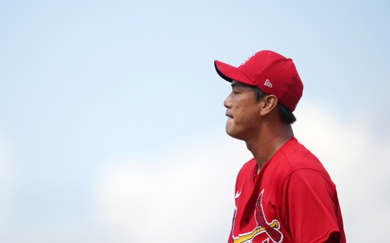 Cardinals' Kim Kwang-hyun back in St. Louis, doing better after bout of kidney ailment