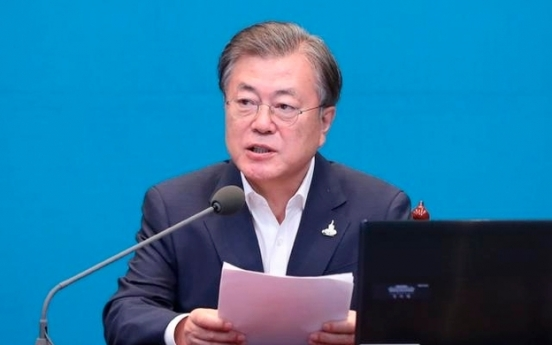 Moon vows S. Korea will quickly transition to 'clean, safe' energy to reduce greenhouse gas, fine dust
