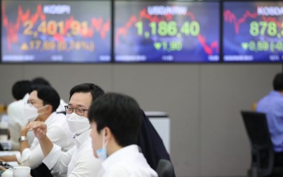 Seoul stocks surpass 2,400-level on European monetary easing hopes