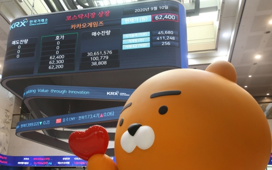 Kakao Games makes stellar stock market debut, lands No. 5 on Kosdaq