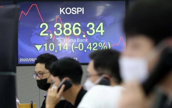 Seoul stocks open tad lower on Wall Street losses