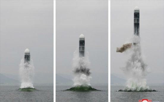 Intelligence looking into NK's submarine missile launch: report