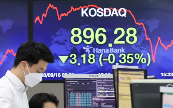 Seoul stocks snap 4-day winning streak on profit-taking