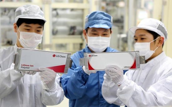 LG Chem to split off Battery Biz: sources