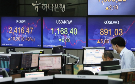 Seoul stocks open higher on battery, bio rebound