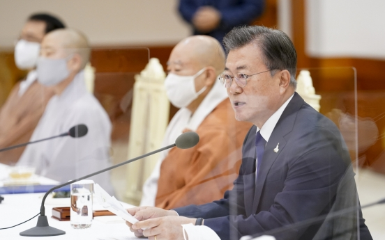 Moon says Korea peace possible without giving up hope for dialogue